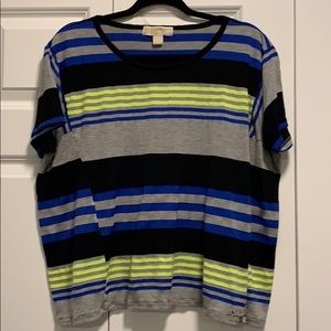 MICHAEL Michael Kors Blue/Yellow/Black/Grey Shirt